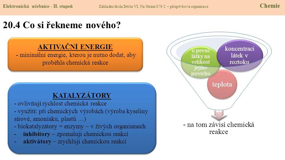 20.5 Procvičení a příklady Elektronická učebnice - II.