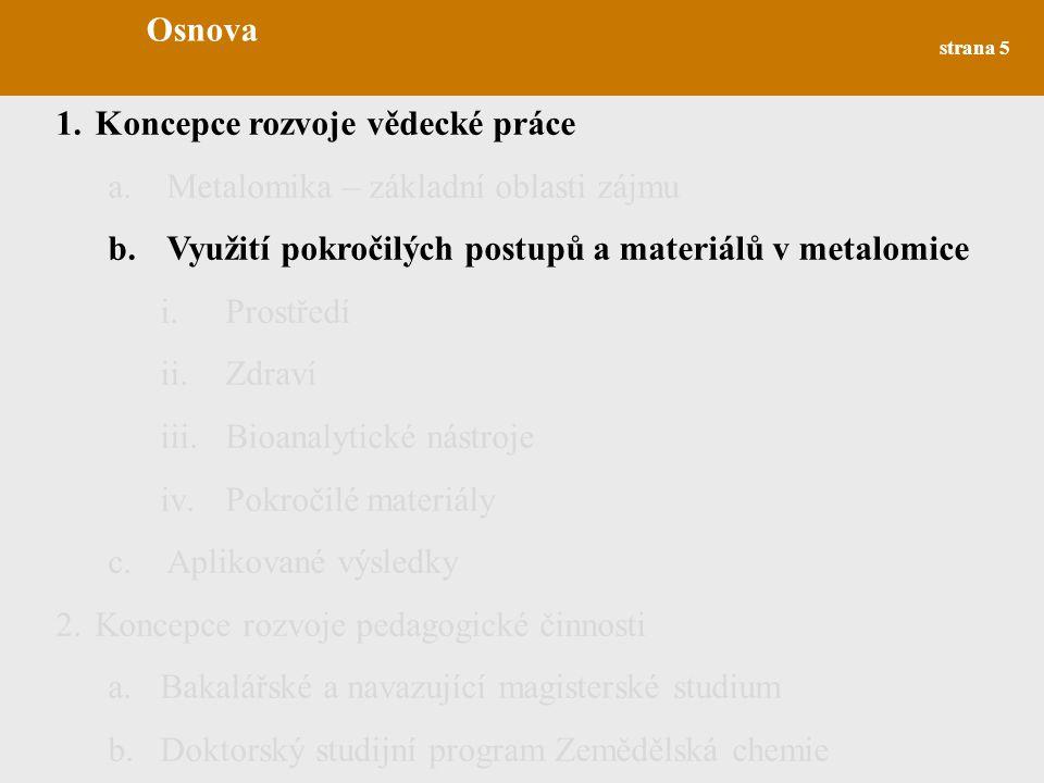 strana 26 2.Koncepce rozvoje pedagogické činnosti a.