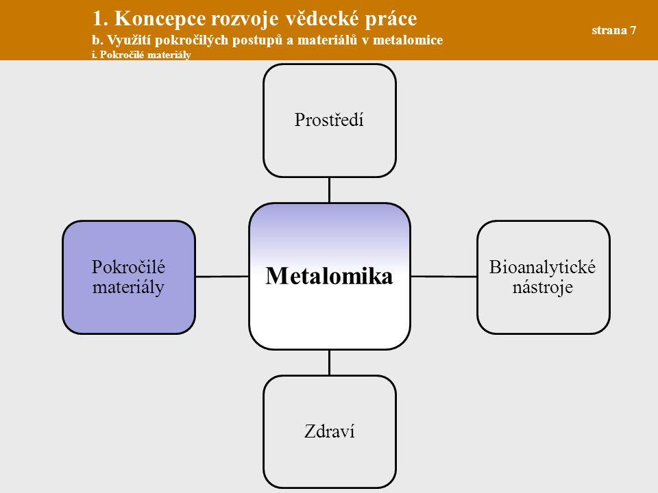 Paramagnetické částice strana 8 1.Koncepce rozvoje vědecké práce b.