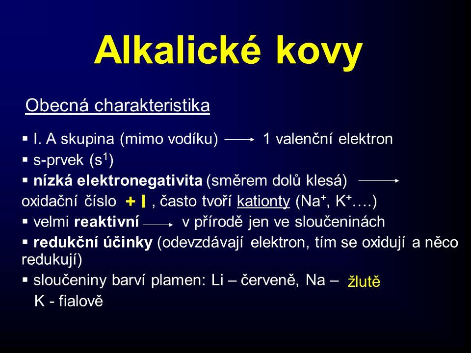 Alkalické kovy  I.