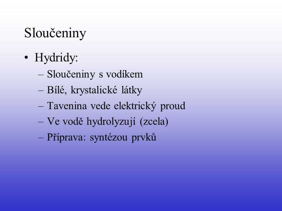 II.A Skupina – kovy alk.
