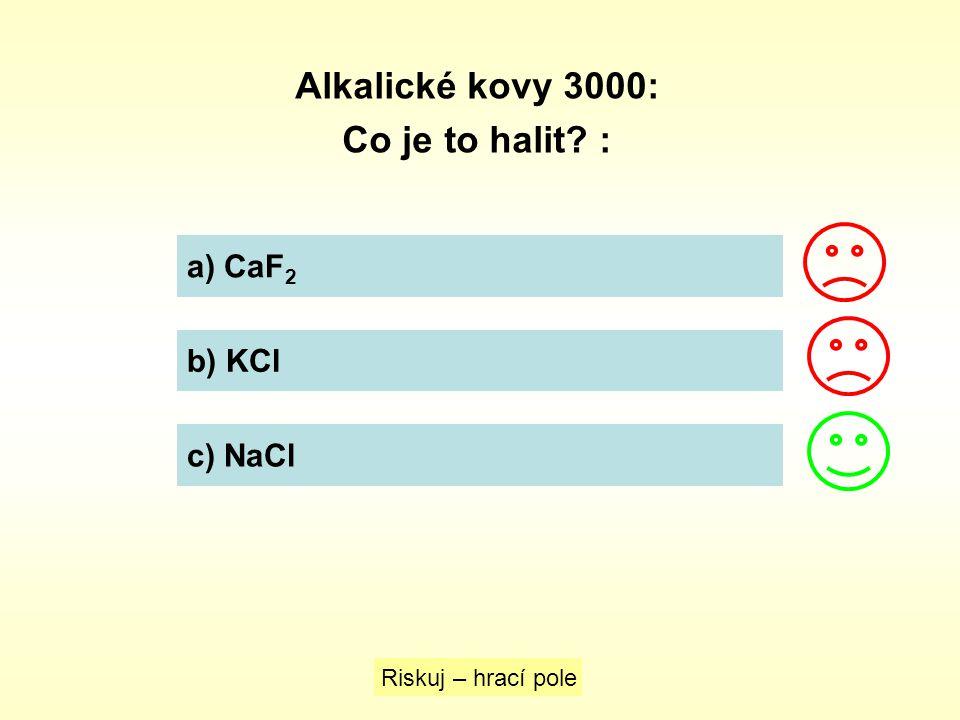 Alkalické kovy 4000: Najděte vzorec jedlé sody.