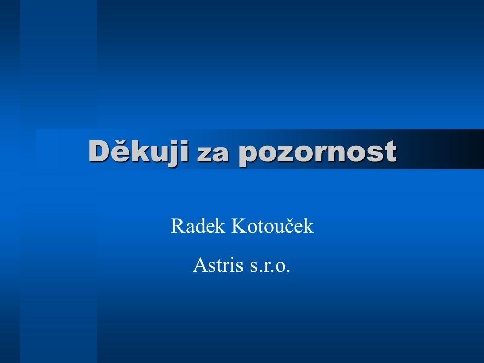 Děkuji za pozornost Radek Kotouček Astris s.r.o.