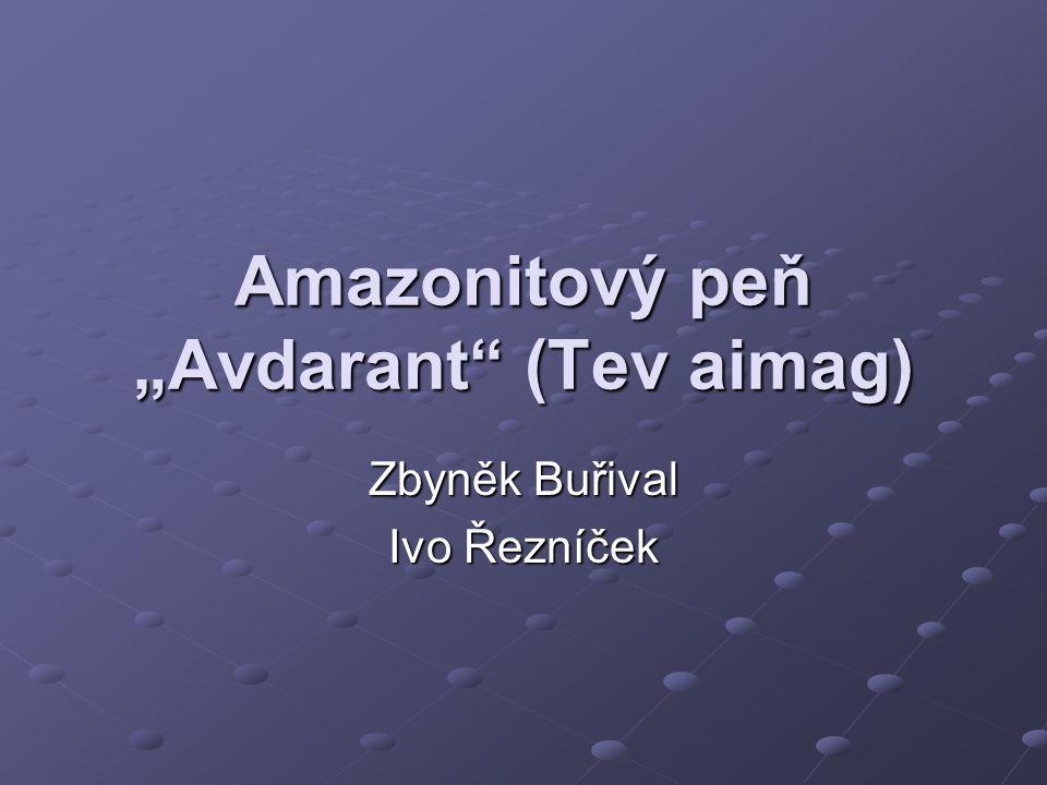 """Amazonitový peň """"Avdarant"""" (Tev aimag) Zbyněk Buřival Ivo Řezníček"""