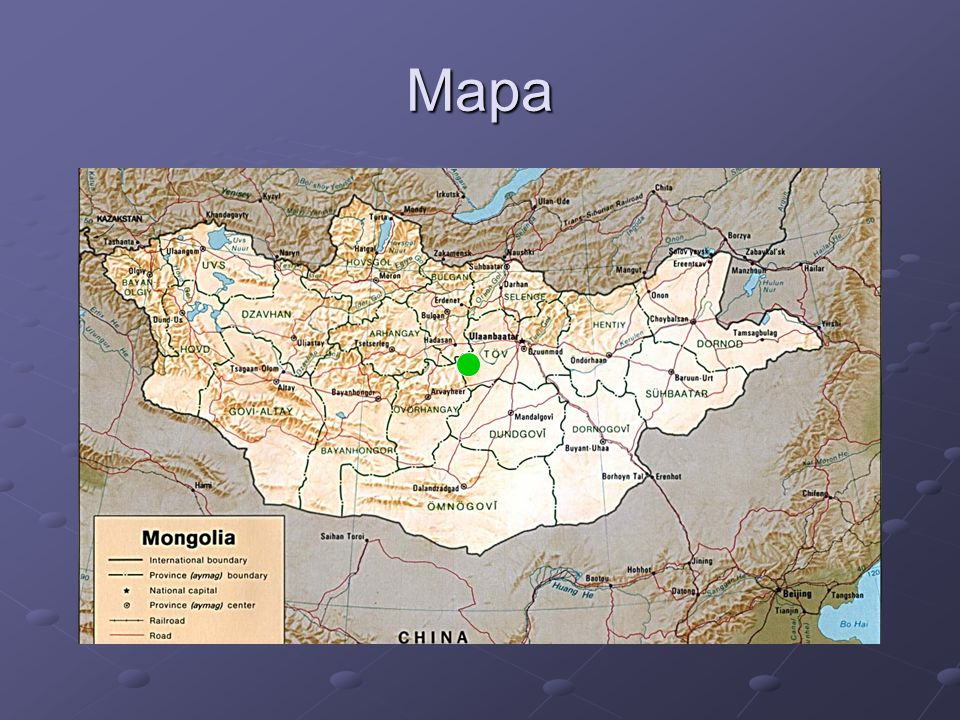 """Obecná charakteristika Amazonitový peň """"Avdarant se nalézá cca 150 km západně od hlavního města Ulaan Baataru ( GPS koordináty: 47° 37´ 25,9´´s.š 105°26´59,9´´v.d )."""
