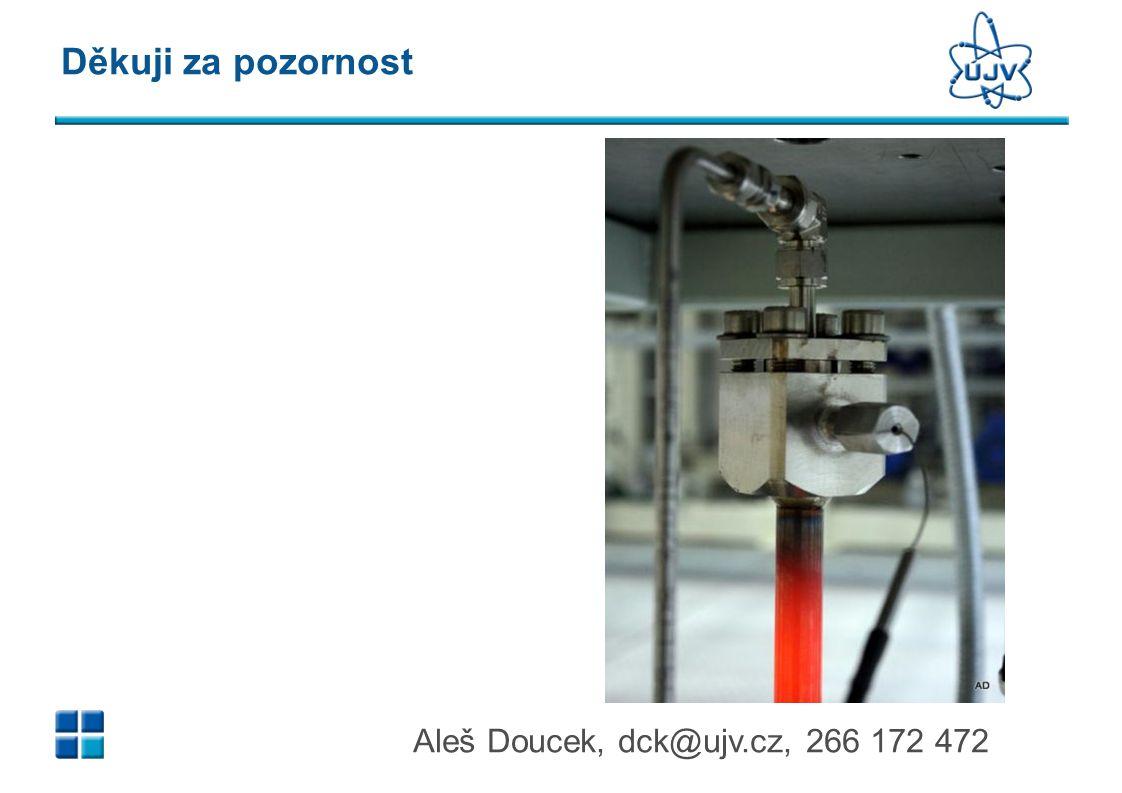 Aleš Doucek, dck@ujv.cz, 266 172 472 Děkuji za pozornost