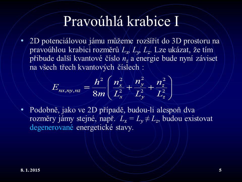 Atom vodíku III Řešení je snadné při znalosti pokročilého matematického aparátu : L je Laguerův polynom a Y je sférická harmonická funkce.