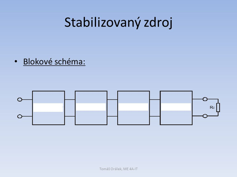 Proudová pojistka Proudová pojistka: … a)po odstranění nadměrné zátěže (Iz>In) se U2 obnoví automaticky b)pro zpětné uvedení do činnosti musíme pojistku restartovat Tomáš Orálek, ME 4A-IT