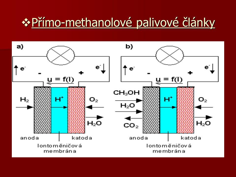  Přímo-methanolové palivové články