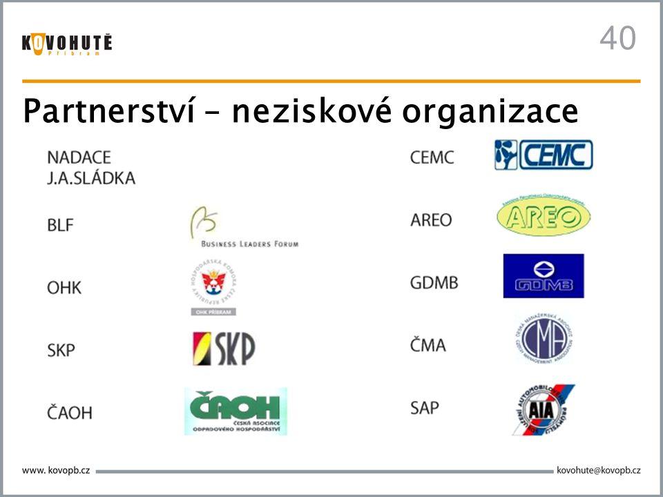 Partnerství – neziskové organizace 40