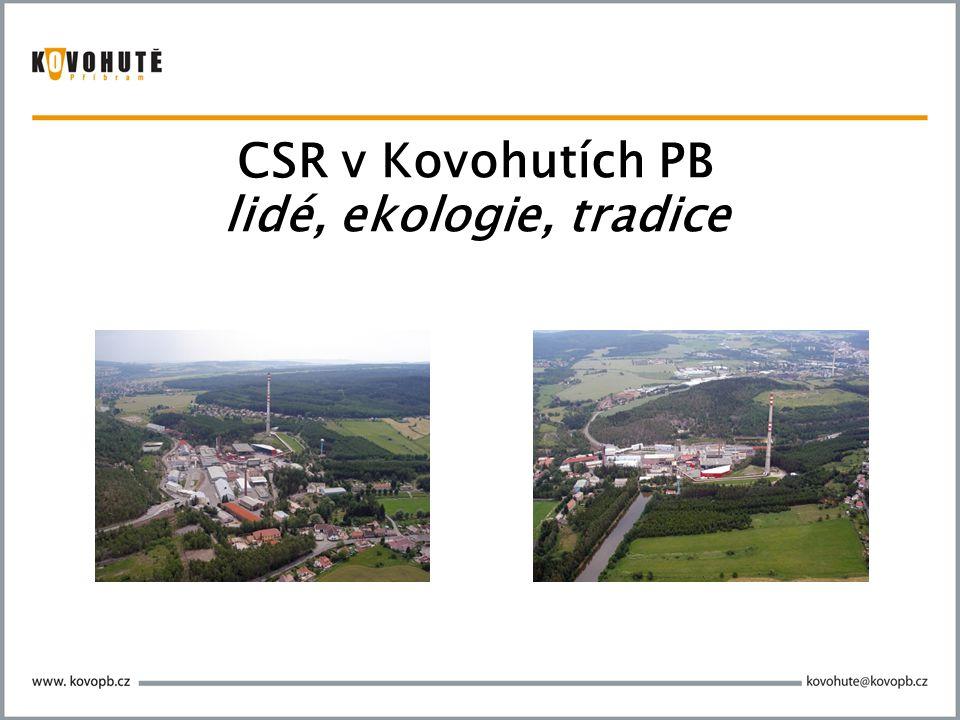 4  Kovohutě Příbram – obecné představení (důležité pro vnímání CSR firmy)  CSR v Kovohutích Příbram  vč.