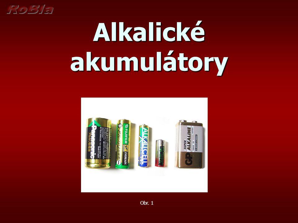 Alkalické akumulátory Obr. 1