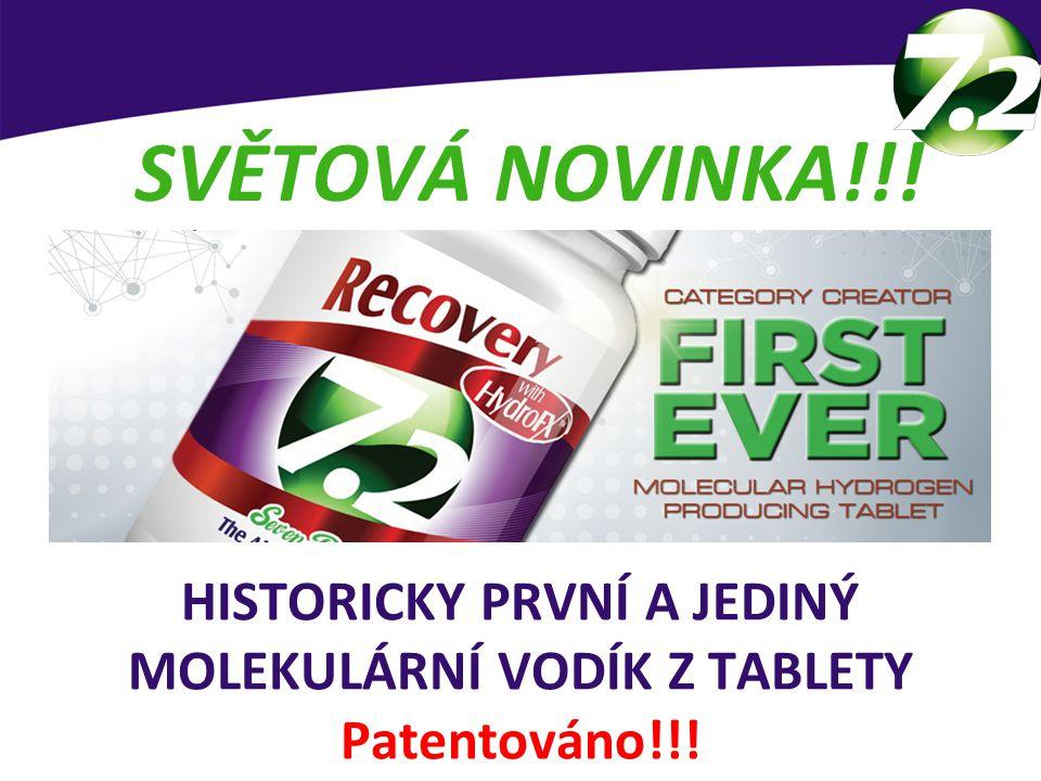 HISTORICKY PRVNÍ A JEDINÝ MOLEKULÁRNÍ VODÍK Z TABLETY Patentováno!!! Patentem chráněný produkt SVĚTOVÁ NOVINKA!!!