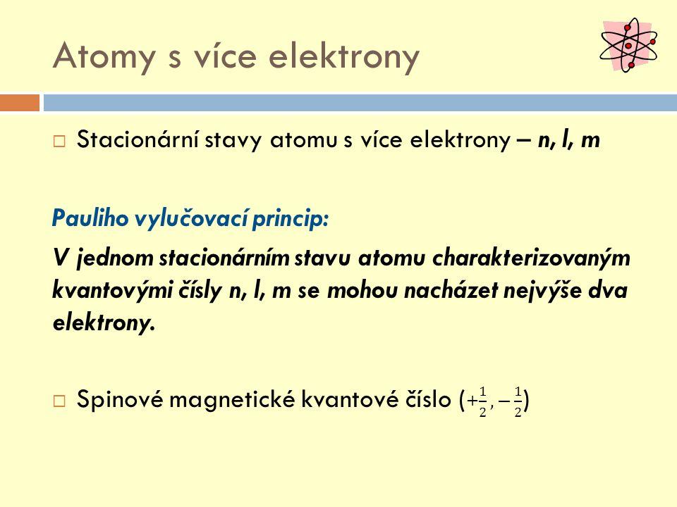 Atomy s více elektrony