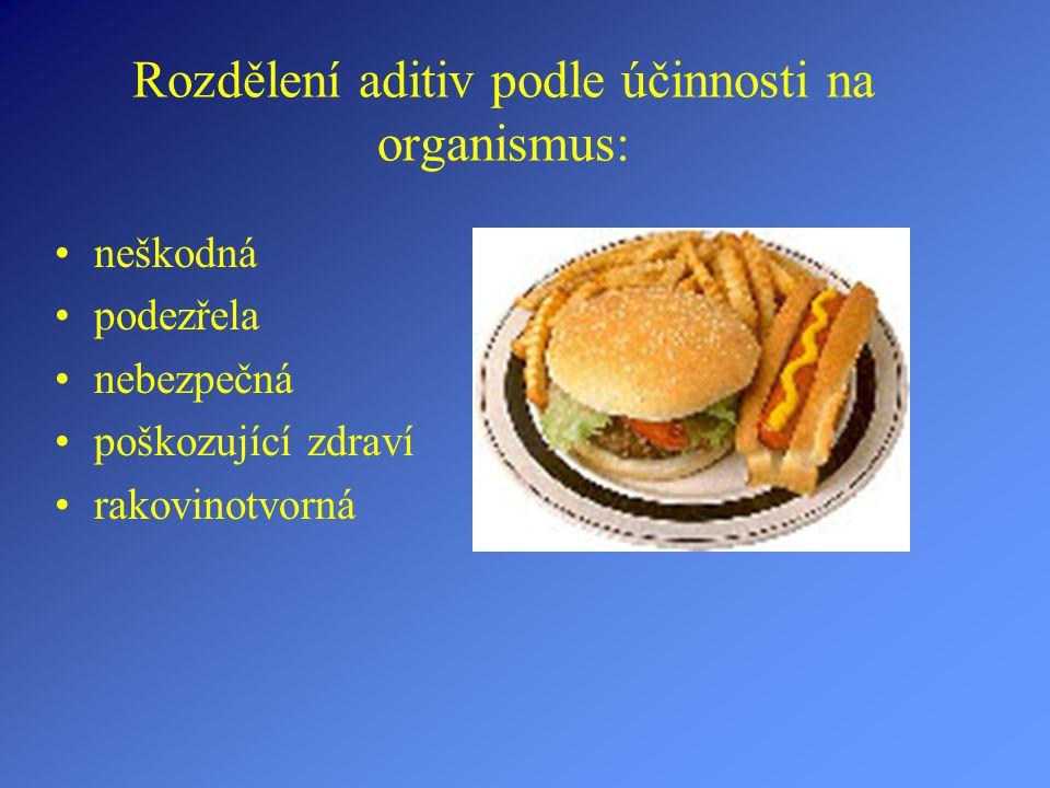Základní pojem: Stabilizátory mají za úkol zabraňovat oddělení složek potravin, zajišťovat stálost barvy a chuti.