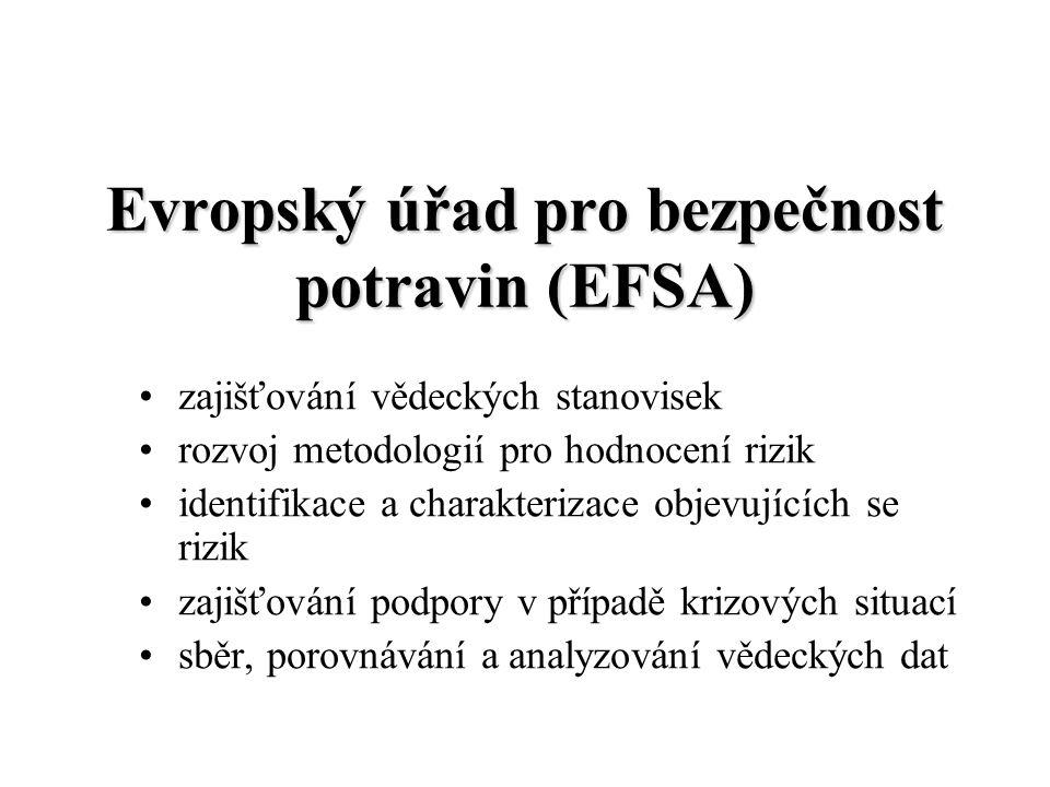 Evropský úřad pro bezpečnost potravin (EFSA) zajišťování vědeckých stanovisek rozvoj metodologií pro hodnocení rizik identifikace a charakterizace obj