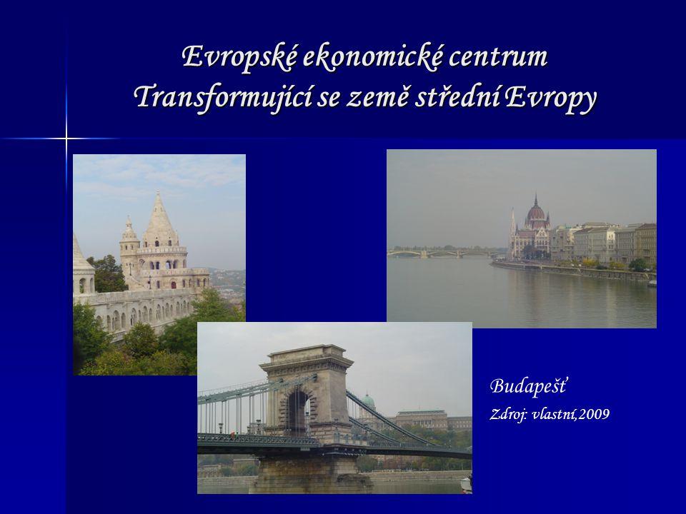 Evropské ekonomické centrum Transformující se země střední Evropy Budapešť Zdroj: vlastní,2009