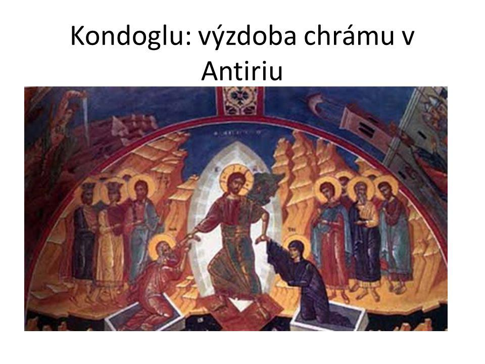 Kondoglu: výzdoba chrámu v Antiriu