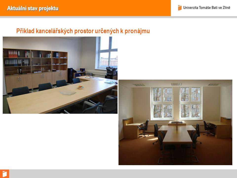 Aktuální stav projektu Příklad kancelářských prostor určených k pronájmu