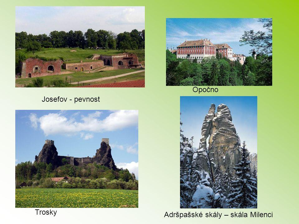 Josefov - pevnost Opočno Adršpašské skály – skála Milenci Trosky