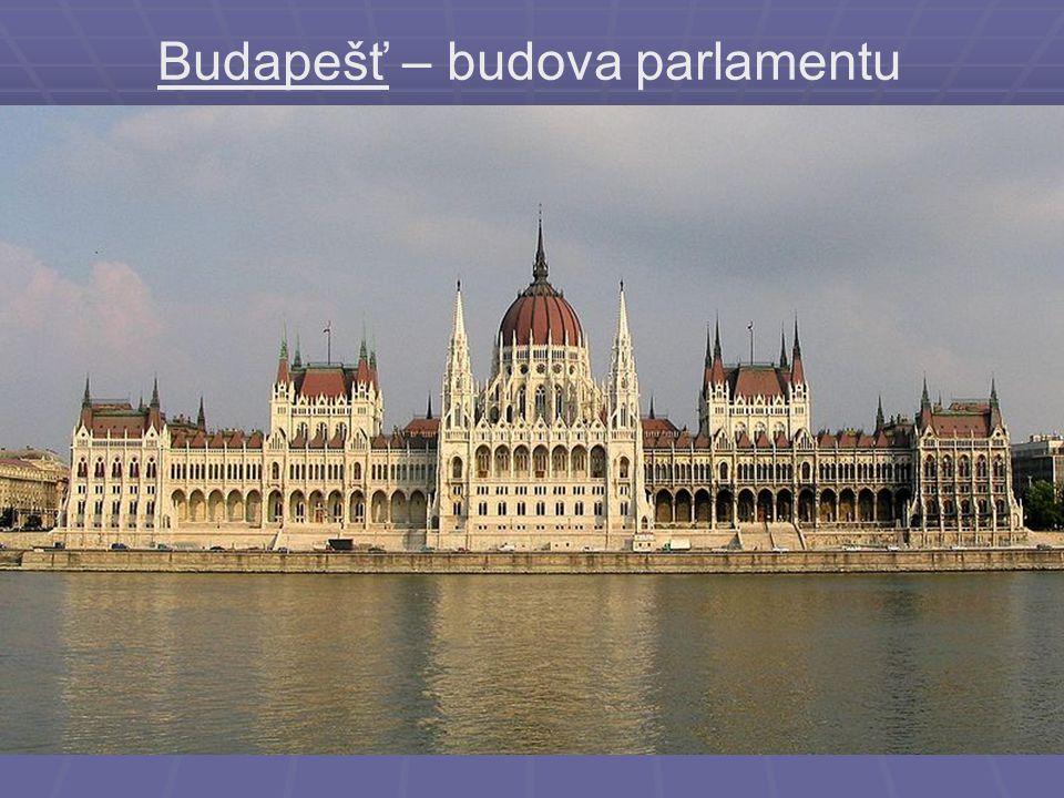 Budapešť – budova parlamentu