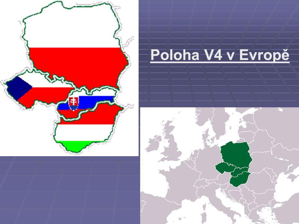 Poloha V4 v Evropě