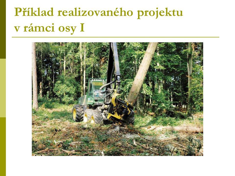 Příklad realizovaného projektu v rámci osy I