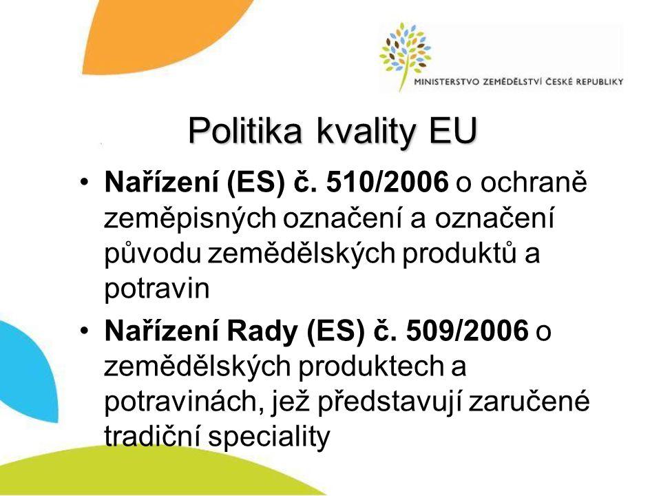 Politika kvality EU Nařízení (ES) č.