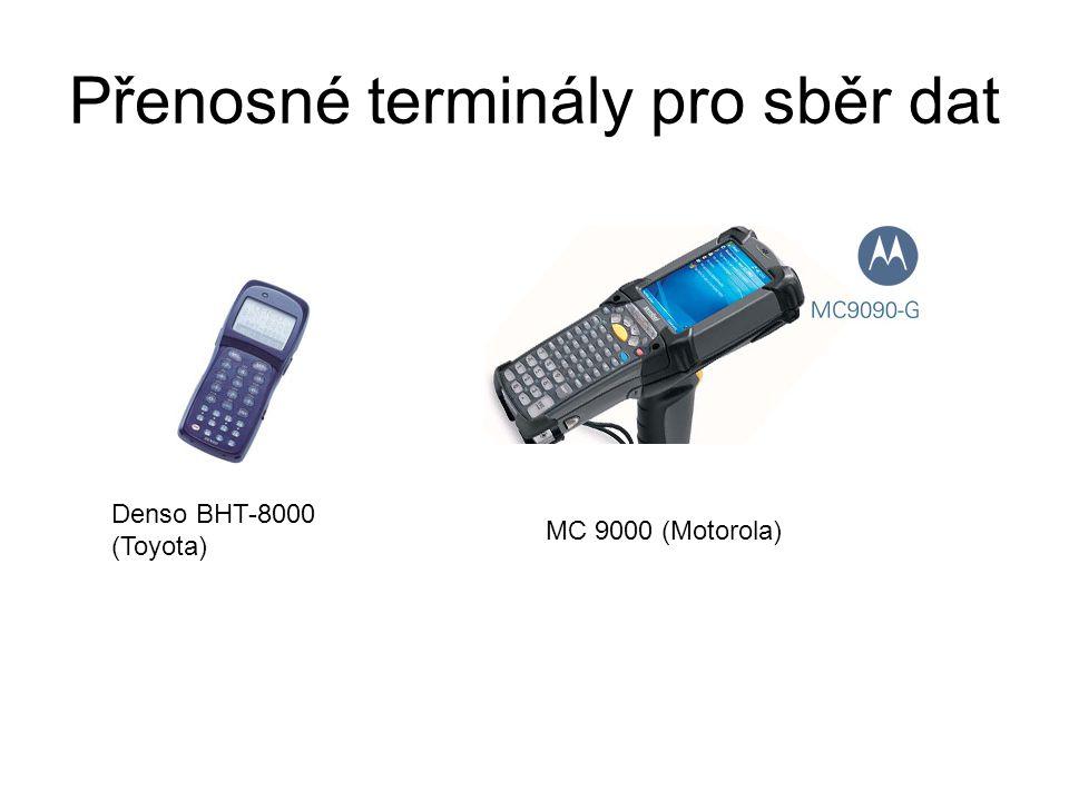 Přenosné terminály pro sběr dat Denso BHT-8000 (Toyota) MC 9000 (Motorola)