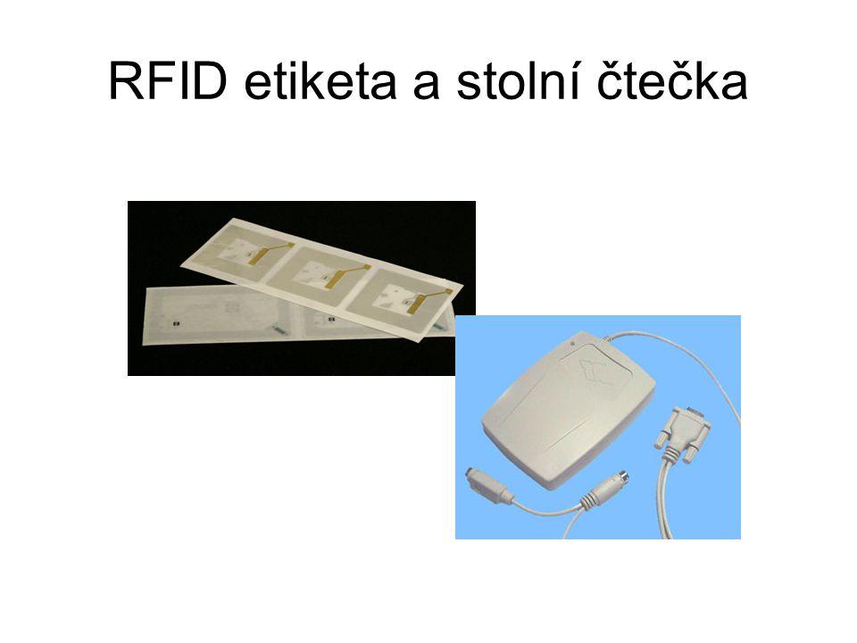 RFID etiketa a stolní čtečka