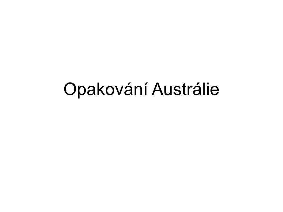 Upravte věty a z označených výrazů napište ty, které do věty patří Podnebí Austrálie je většinou horké a suché / chladné a vlhké.