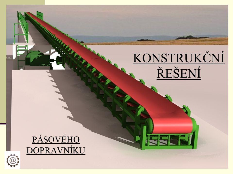 Funkce a využití pásových dopravníků slouží ke kontinuální dopravě převážně sypkých a kusových látek může být pevný nebo pojízdný- dle místa kde je uložen složen z lehké převážně ocelové konstrukce snadno smontovatelný a rozložitelný hlavním dopravním elementem je pás- gumový nebo ocelový nevýhodou bývá napínání pásu a nutnost zakrýt dopravní trať tak, aby byla omezena prašnost Hlavní využití mají pasové dopravníky především v důlním, potravinářském,… průmyslu.
