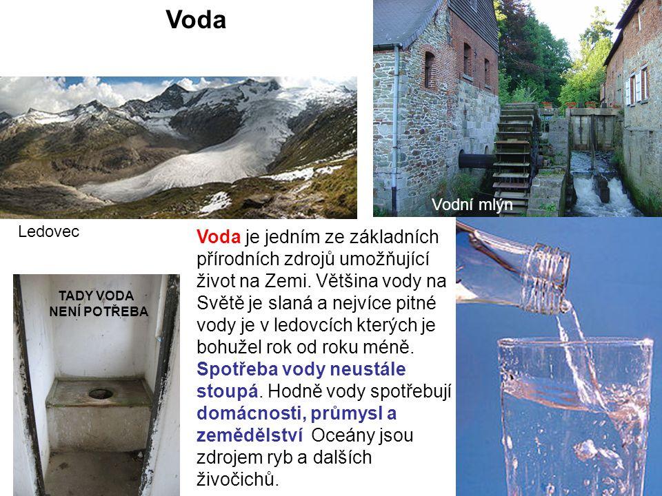 Jaké znáte vodní zdroje.Význam a použití Je základní podmínkou života.