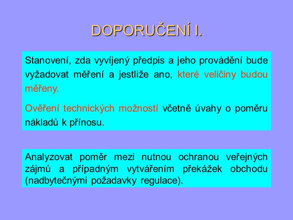 DOPORUČENÍ II.