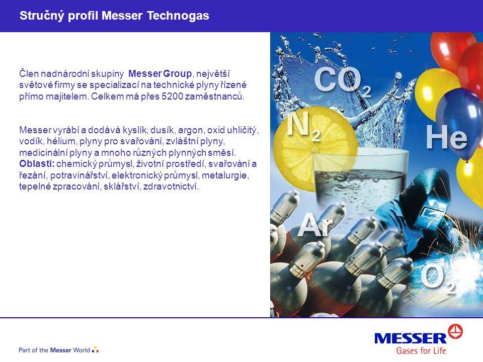 Člen nadnárodní skupiny Messer Group, největší světové firmy se specializací na technické plyny řízené přímo majitelem. Celkem má přes 5200 zaměstnanc