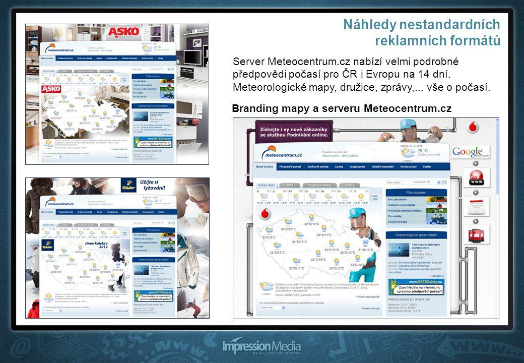 Branding mapy a serveru Meteocentrum.cz Server Meteocentrum.cz nabízí velmi podrobné předpovědi počasí pro ČR i Evropu na 14 dní.