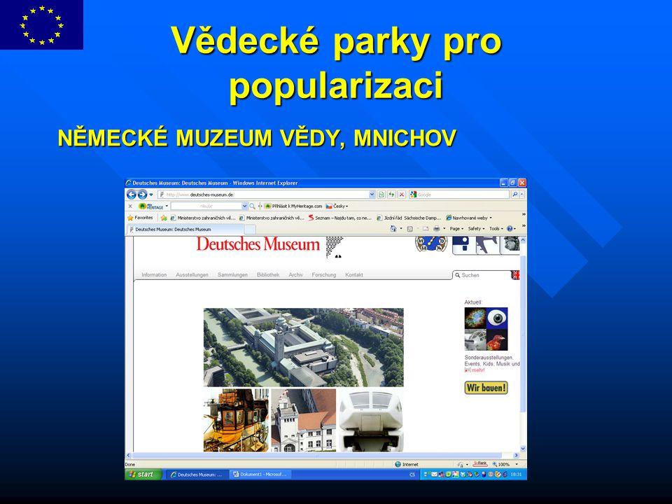 Vědecké parky pro popularizaci NĚMECKÉ MUZEUM VĚDY, MNICHOV