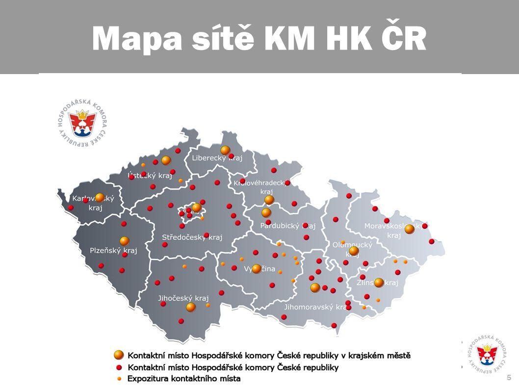 5 Mapa sítě KM HK ČR