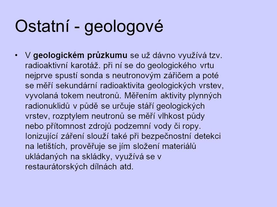 Ostatní - geologové V geologickém průzkumu se už dávno využívá tzv.