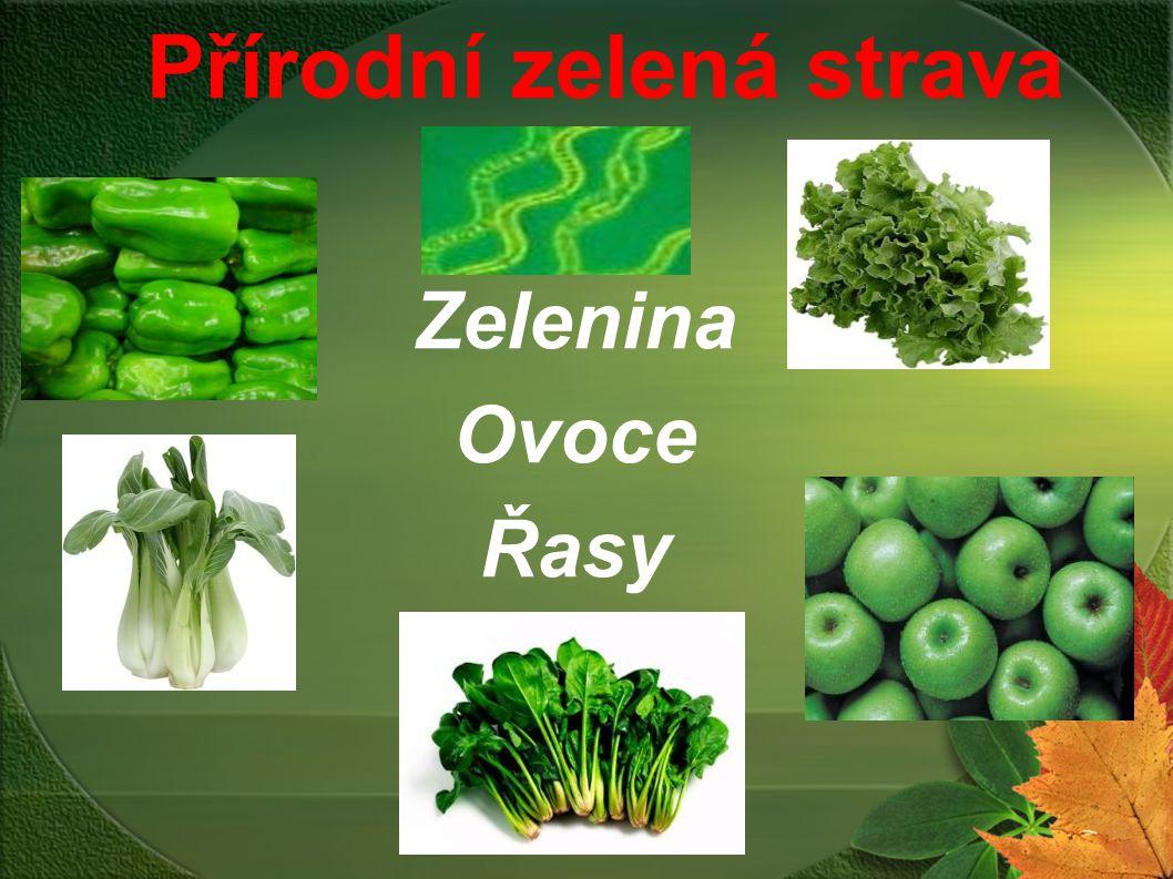 Přírodní zelená strava Zelenina Ovoce Řasy