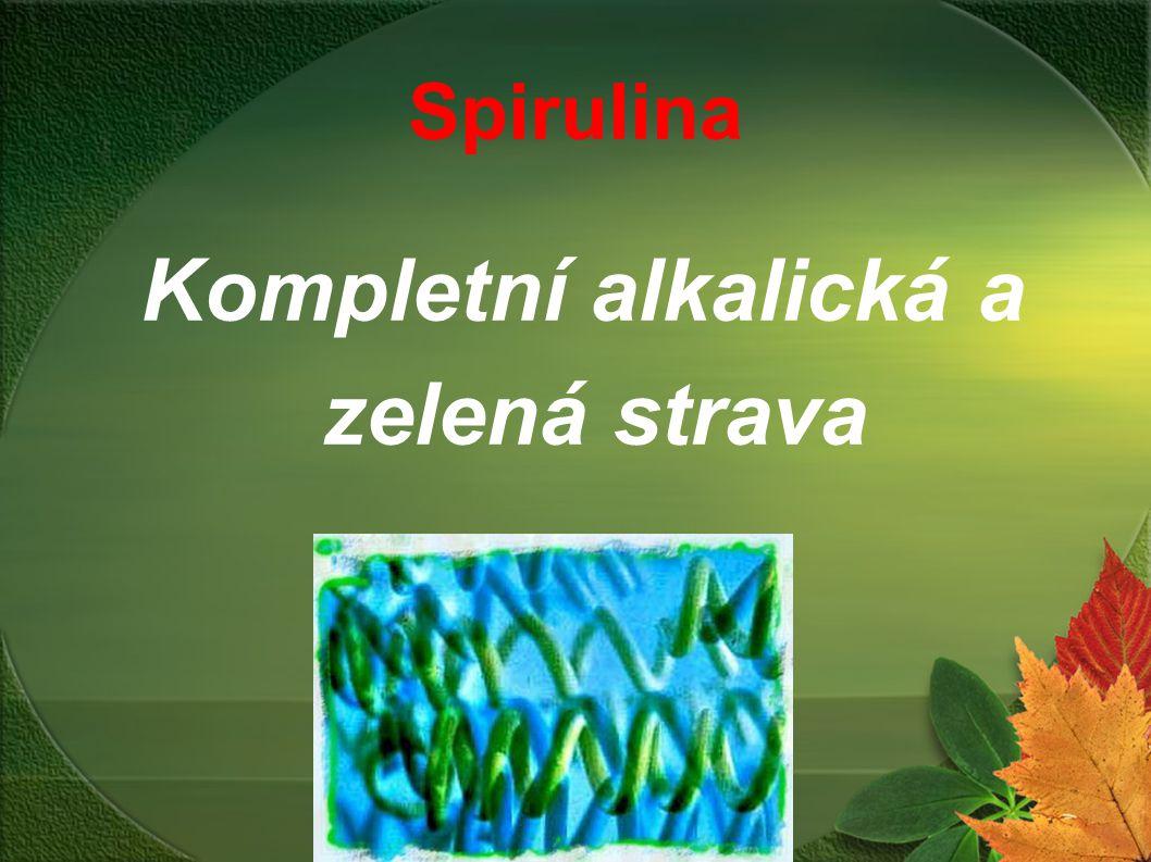 Spirulina Kompletní alkalická a zelená strava