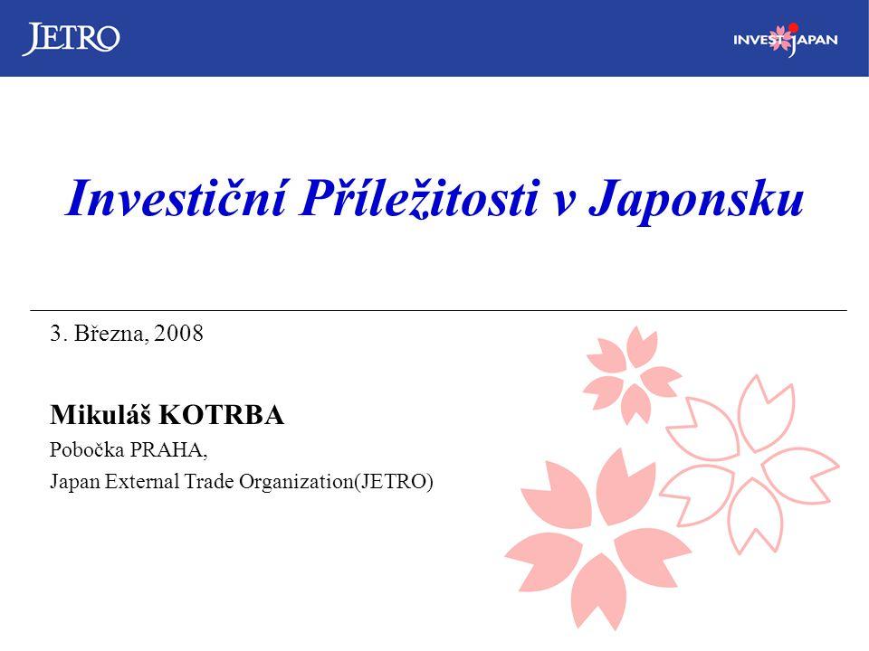 Investiční Příležitosti v Japonsku 3.