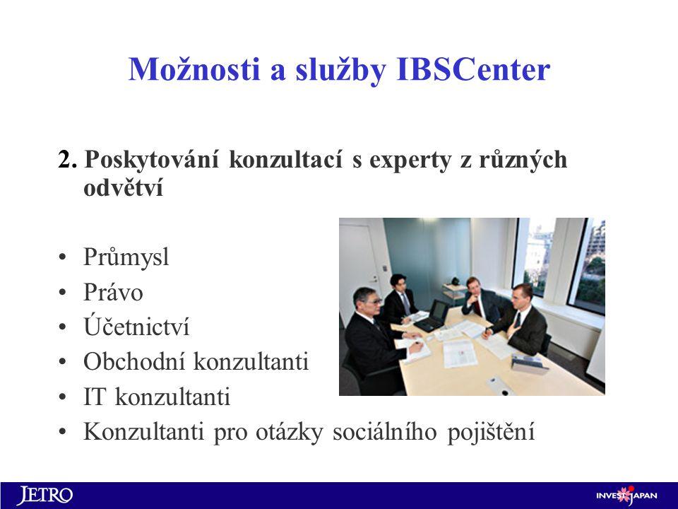 Možnosti a služby IBSCenter 2.