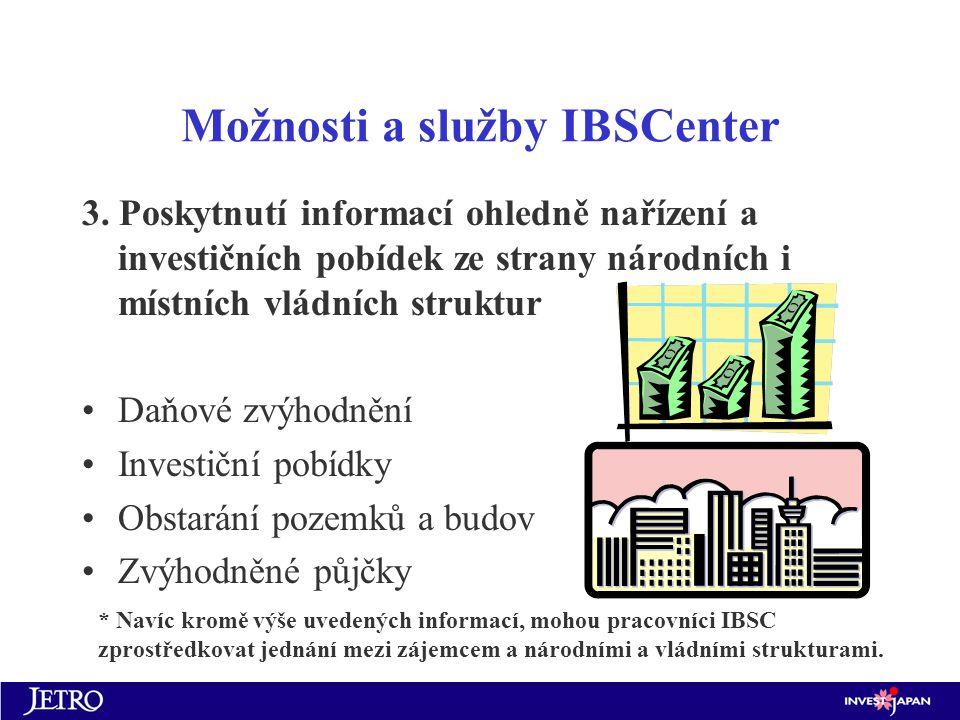 Možnosti a služby IBSCenter 3.