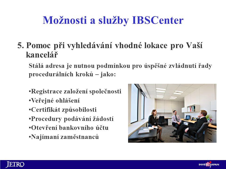 Možnosti a služby IBSCenter 5.