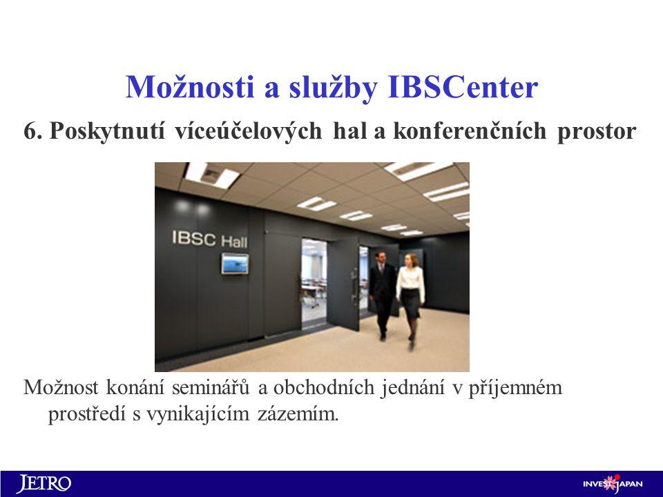 Možnosti a služby IBSCenter 6.