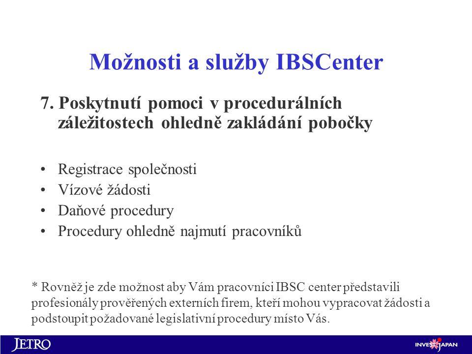 Možnosti a služby IBSCenter 7.