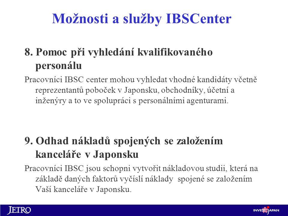 Možnosti a služby IBSCenter 8.