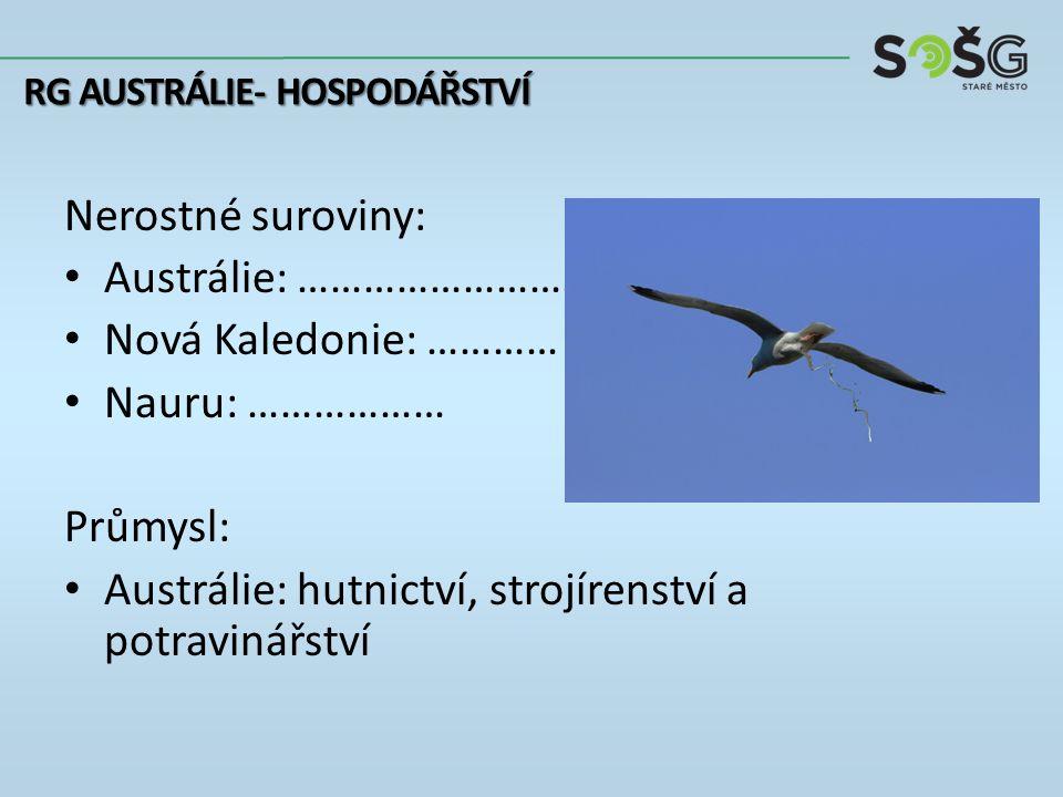 Zemědělství: Živočišná produkce: Austrálie + NZ: …………….