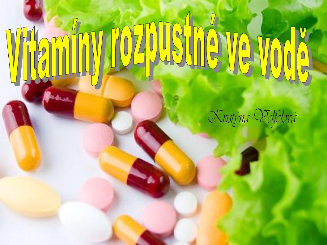 Rozpouští se ve vodě☺ Rozpouští se ve vodě☺ Jedná se o vitamíny skupiny B a vitamín C, H,PP.